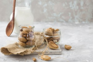 bigstock-Organic-Almond-Yogurt-In-Glass-233349685