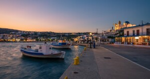 sunset-port-leipsoi-dodecanese-fishing-boats-lights-ferry-routes